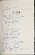 Autographs:Others, Bums Multi-Signed Book (11 Signatures)....