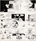 Original Comic Art:Comic Strip Art, George Herriman Krazy Kat Sunday Comic Strip Original Artdated 4-30-22 (King Features Syndicate, 1922)....