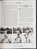Autographs:Others, Greatest Moments in Baseball Book Signed by Carl Hubbell....