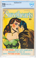 Golden Age (1938-1955):Romance, Sweethearts V2#27 (Charlton, 1954) CBCS FN/VF 7.0 Off-white towhite pages....