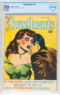 Sweethearts V2#27 (Charlton, 1954) CBCS FN/VF 7.0 Off-white to white pages