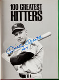 Autographs:Others, 100 Greatest Hitters Multi-Signed Book (47 Signatures) with Mantle DiMaggio, & Williams....