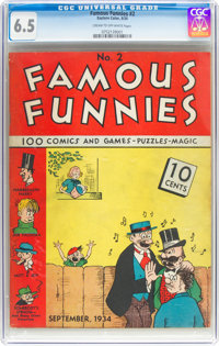 Famous Funnies #2 (Eastern Color, 1934) CGC FN+ 6.5 Cream to off-white pages