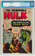 Silver Age (1956-1969):Superhero, The Incredible Hulk #2 (Marvel, 1962) CGC NM- 9.2 Off-white towhite pages....