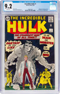 Silver Age (1956-1969):Superhero, The Incredible Hulk #1 (Marvel, 1962) CGC NM- 9.2 White pages....