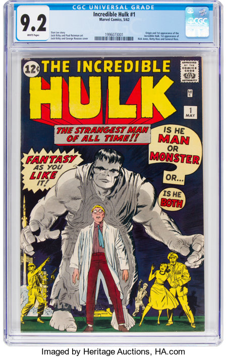 The Incredible Hulk #1 (Marvel, 1962) CGC NM- 9.2 White pages....