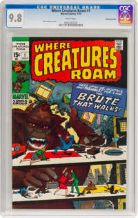 Where Creatures Roam #1 Bowling Green Pedigree (Marvel, 1970) CGC NM/MT 9.8 White pages