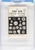 Books:Overstreet, Overstreet Comic Book Price Guide #1 First Print (Robert Overstreet, 1970) CGC NM- 9.2 White pages....