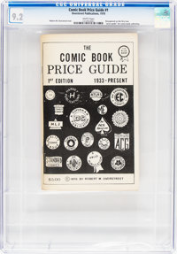 Overstreet Comic Book Price Guide #1 First Print (Robert Overstreet, 1970) CGC NM- 9.2 White pages