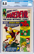Silver Age (1956-1969):Superhero, Daredevil #1 (Marvel, 1964) CGC VF 8.0 Off-white to white pages....