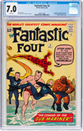 Silver Age (1956-1969):Superhero, Fantastic Four #4 (Marvel, 1962) CGC FN/VF 7.0 White pages....