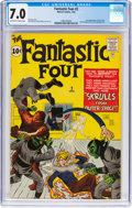 Silver Age (1956-1969):Superhero, Fantastic Four #2 (Marvel, 1962) CGC FN/VF 7.0 Off-white to white pages....