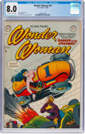 Golden Age (1938-1955):Superhero, Wonder Woman #42 (DC, 1950) CGC VF 8.0 Off-white to white pages....