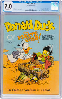 Four Color #9 Donald Duck (Dell, 1942) CGC FN/VF 7.0 Off-white pages