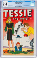 Golden Age (1938-1955):Humor, Tessie the Typist #7 Mile High Pedigree (Timely, 1946) CGC NM 9.4 White pages....