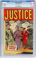 Golden Age (1938-1955):Crime, Justice Comics #8 (Atlas, 1949) CGC FN/VF 7.0 Off-white to white pages....