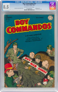 Golden Age (1938-1955):War, Boy Commandos #13 (DC, 1945) CGC VF+ 8.5 Off-white to whitepages....