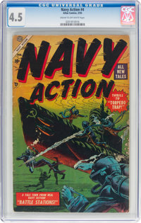 Navy Action #4 (Atlas, 1955) CGC VG+ 4.5 Cream to off-white pages