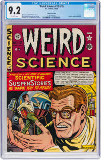 Weird Science #12 (#1) Gaines File Pedigree 2/9 (EC, 1950) CGC NM- 9.2 Off-white pages