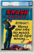 Golden Age (1938-1955):Superhero, Smash Comics #42 Mile High Pedigree (Quality, 1943) CGC NM 9.4 Off-white pages....