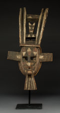 Tribal Art, A Marka Mask Wood with polychro...