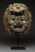 Tribal Art, A Dan/Guere Mask Of massive oval form with...