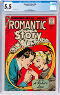 Silver Age (1956-1969):Romance, Romantic Story #38 (Charlton, 1958) CGC FN- 5.5 White pages....