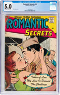 Silver Age (1956-1969):Romance, Romantic Secrets #12 (Charlton, 1957) CGC VG/FN 5.0 Off-white towhite pages....