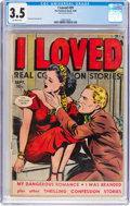 Golden Age (1938-1955):Romance, I Loved #29 (Fox Features Syndicate, 1949) CGC VG- 3.5 Off-whitepages....