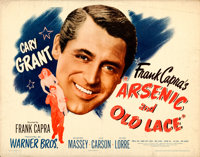 "Arsenic and Old Lace (Warner Brothers, 1944). Half Sheet (22"" X 28"") Style A. From the Collection of Frank Bux..."