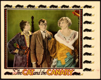 """The Cat and the Canary (Universal, 1927). Lobby Card (11"""" X 14""""). From the Collection of Frank Buxton, of whic..."""