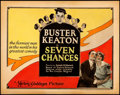 "Movie Posters:Comedy, Seven Chances (Metro Goldwyn, 1925). Title Lobby Card (11"" X 14"").From the Collection of Frank Buxton, of which the sale'..."