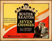 "Seven Chances (Metro Goldwyn, 1925). Title Lobby Card (11"" X 14""). From the Collection of Frank Buxton, of whi..."