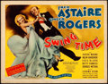 "Movie Posters:Musical, Swing Time (RKO, 1936). Title Lobby Card (11"" X 14""). From the Collection of Frank Buxton, of which the sale's proceeds wi..."