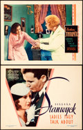"""Movie Posters:Drama, Ladies They Talk About (Warner Brothers, 1933). Title Lobby Cardand Lobby Card (11"""" X 14"""").. ... (Total: 2 Items)"""