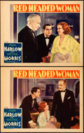 "Movie Posters:Drama, Red Headed Woman (MGM, 1932). Lobby Cards (2) (11"" X 14"").. ... (Total: 2 Items)"