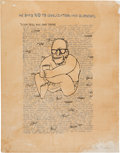 Political:Posters & Broadsides (1896-present), [Lyndon B. Johnson]: Anti-Goldwater Silk Screen Poster Signed by the Artist Ben Shahn. ...