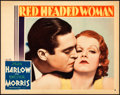 """Movie Posters:Drama, Red Headed Woman (MGM, 1932). Lobby Card (11"""" X 14"""").. ..."""