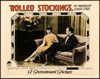 """Rolled Stockings (Paramount, 1927). Lobby Card (11"""" X 14"""")"""