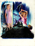 "Movie Posters:Horror, Frankenstein Created Woman (20th Century Fox, 1967). Original Gouache French Poster Artwork on Illustration Board (19.5"" X 2..."