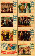 "Movie Posters:Musical, Yankee Doodle Dandy (Warner Brothers, 1942). Linen Finish Lobby Card Set of 8 (11"" X 14"").. ... (Total: 8 Items)"