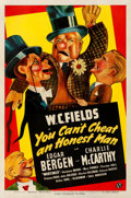 "Movie Posters:Comedy, You Can't Cheat an Honest Man (Universal, 1939). One Sheet (27"" X41"") Style A, Jacques Kapralik Artwork.. ..."