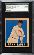 Baseball Cards:Singles (1940-1949), 1948 Leaf Hank Sauer (SP) #20 SGC 80 EX/NM 6....
