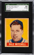 Baseball Cards:Singles (1940-1949), 1948 Leaf Dale Mitchell (SP) #165 SGC 80 EX/NM 6....
