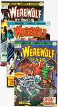 Bronze Age (1970-1979):Horror, Werewolf by Night Group of 10 (Marvel, 1975-77) Condition: AverageVF.... (Total: 10 )