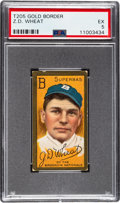 Baseball Cards:Singles (Pre-1930), 1911 T205 Sweet Caporal Zach Wheat PSA EX 5....
