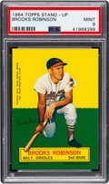 Baseball Cards:Singles (1960-1969), 1964 Topps Stand-Up Brooks Robinson PSA Mint 9 - None Higher....
