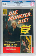 Silver Age (1956-1969):Horror, Movie Classics: Die, Monster, Die #nn (Dell, 1966) CGC VF/NM 9.0White pages....