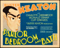 "Movie Posters:Comedy, Parlor, Bedroom and Bath (MGM, 1931). Title Lobby Card (11"" X 14"")Al Hirschfeld Artwork.. ..."