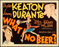 "Movie Posters:Comedy, What! No Beer? (MGM, 1933). Title Lobby Card (11"" X 14"") AlHirschfeld Artwork.. ..."